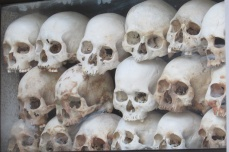 The bones of the victims from the killing field